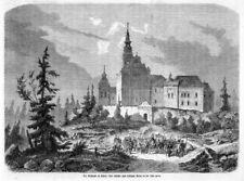 Święty Krzyż  Kloster Heiligkreuz, Łysa Góra, Polen, Original-Holzstich 1863