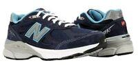 Women's New Balance 990 v3 Size 8 B Navy Blue Running Shoe W990NV3 Made in USA!