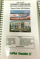 VFR & IFR Cockpit Checklist & Flight Planning Assistant - ProPilot Cessna T182T