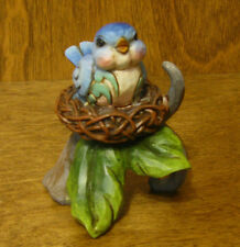 Jim Shore Heartwood Creek #4045274  Mini BLUE BIRD on NEST, From Retail Store,