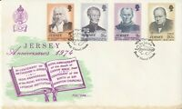 JERSEY 31 JULY 1974 ANNIVERSARIES FIRST DAY COVER SHS