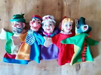 Lot of 5 Vintage 80's German Rubber Head Hand Puppets