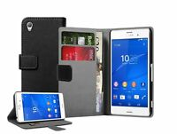 WALLET Leather Flip Case Cover Pouch For Mobile Phone Sony Xperia Z3 experia