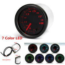 2'' 52mm Universal 7 Color LED Dial Voltage Gauge Volt Meter 8-18V For Auto Cars