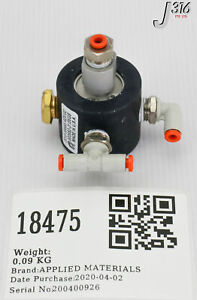 18475 APPLIED MATERIALS ASSY, LOCKOUT VALVE W/ONE TOUCH FTGS 0010-39665