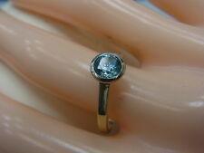 585er Gelbgold Ring mit Topas Ringgroße 53 Kopfbreite 7,1 mm Gewicht 2,8 Gramm