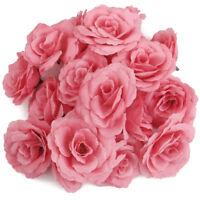 1 Packung/ 20 Stueck Rose Kopf Kuenstliche Blumen Kopf Hochzeit DIY O3U3