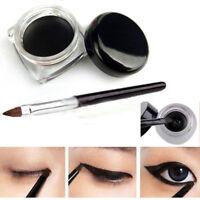 Waterproof Eye Liner Makeup Black Liquid Eyeliner Shadow Gel Makeup With Brush