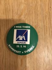 Somerset v Surrey 25/05/98 Pin Badge