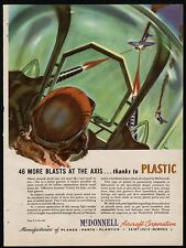 1943 WWII McDONNELL AIRCRAFT Plastic Gunner Turret WW II WW2 AD Blasts the Axis