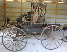 BARN FIND Antique Primitive Horse Drawn Doctor Carriage Buggy For Restoration