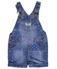 OshKosh Blue Chambray Bandanna Print Shortalls Overall Infant Baby Girl 6 Months