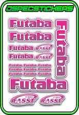FUTABA RC STICKERS A5 SHEET R/C PLANE CAR BUGGY HELI REMOTE CONTROL PINK PURPP W