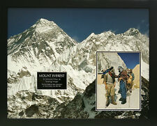 EVEREST EXPEDITION Signed 29X24 Framed Display HILLARY & TENSING COA