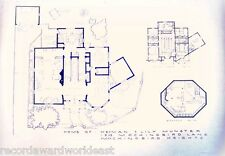 "The Munsters TV Show House Home, 1313 Mocking Bird Lane Blueprints 24"" X 36"""