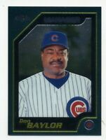 2001 Topps Chrome DON BAYLOR Rare MANAGER BASEBALL CARD #260 Chicago Cubs