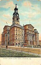 LOUISVILLE KENTUCKY~CUSTOM HOUSE & POST OFFICE~1900s POSTCARD