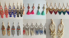 Boho Style Jewellery Earrings Stud Tassel Beaded Long and Drop/Dangle