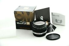 Olympus Zuiko 50mm f1.8 lens boxed Almost Mint