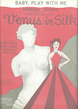 "Robert Stolz ""VENUS IN SILK"" Lester O'Keefe / Jack Cole 1932 FLOP Sheet Music"