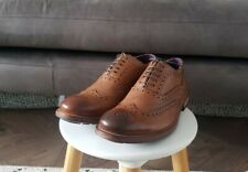 Mens TED BAKER GURI Tan Brown Leather LaceUp Brogue Shoes, Size 8, NEW, RRP £150
