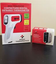 Medic Therapeutics Digital Infrared Thermometer + Fingertip Blood Pulse Oximeter