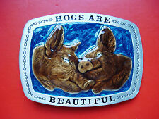 1979 VTG Hogs Are Beautiful Limited Edition #H741 Belt Buckle