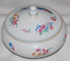 Vintage Porcelain Rosenthal Powder Jar Lidded Vanity Box Floral Flower Germany