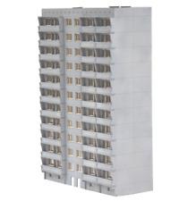 AS projekt 379 - Wohnhaus - 10 Etage TT 1:120, Neu & Ovp. Bausatz