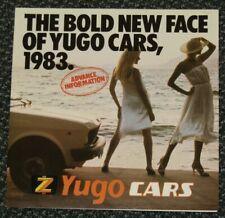 Zastava Yugo 1983 UK Market Leaflet Sales Brochure 45 311 GL 511 513 1100 1300