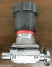 "ITT 1/2"" 316L SS DIAPHRAGM VALVE W/ TRI CLAMP FITTING AND BUTT WELD"