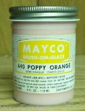 Mayco 00004000  Brush-On Ceramic Glaze Vintage 4 Oz. 640 Poppy Orange