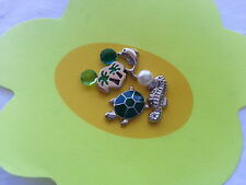 SEAHORSE TURTLE CHARM LOT FOR LIVING GLASS LOCKET PENDANT FLOATING CHARMS #100