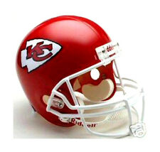KANSAS CITY CHIEFS NFL Football Team Riddell Deluxe Replica Full Size Helmet
