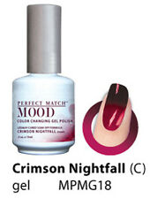 LeChat Perfect Match UV Mood Gel Polish Crimson Nightfall # MPMG18 - .5 fl oz