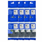 """8PK TZe241 TZ 241 Black on White Label Tape For Brother P-Touch PT-350 18mm 3/4"""""""