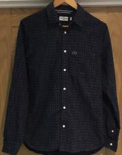 lacoste Mens Cotton Check Slim Fit Shirt Size Medium (Fr 38)