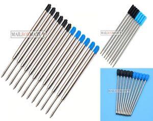 Pen Refills Lot Parker Cross Crystal Compatible Ballpoint Pens Black & Blue Ink
