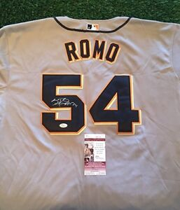 SERGIO ROMO SAN FRANCISCO GIANTS STUD Grey SIGNED Jersey JSA/COA