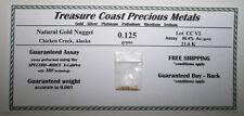 Natural 21.6K Assay Gold Nugget  0.125 gram from Chicken Creek, Alaska USA