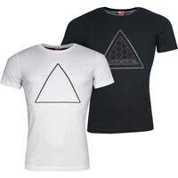 Puma Trinomic Modern Tech II Logo Short Sleeve Mens Tee Top T-Shirt 569728 01 02