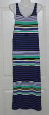 Womens size XS (10) striped long stretchy singlet dress made by SUSSAN