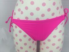 Victorias Secret Bikini Bottom Small Pink Neon Fuchsia String Side Tie Cheeky