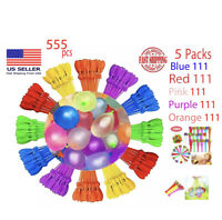 5pack 555 Bunch Water Balloons Self-Sealing Already Tied, Fun Summer Pool Toy