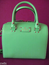 kate spade Doctor Bag Handbag Turquoise Blue Real Leather designer new crossbody