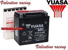 BATTERIA YUASA YTX14-BS 12V 12Ah PIAGGIO VESPA GTS 125 IE e 300 GTS SUPER 2008