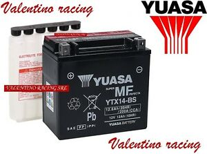 BATTERIA YUASA YTX14-BS PER HONDA XL V 1000 VARADERO DAL 1999 AL 2002