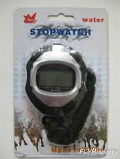 Stopwatch Timer Digital Handheld LCD Sports Lap Date Time Counter Chronograph