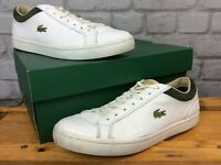 LACOSTE MENS UK 7 EU 40.5 STRAIGHTSET WHITE GREEN BROWN TRAINERS RRP £78 LG