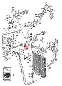 Genuine Volkswagen Coolant Pipe NOS Audi 4000 quattro 80 90 Cabrio 034121071A